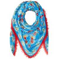 Esarfe Floral Woven 54 X 54 Oversized Square Femei