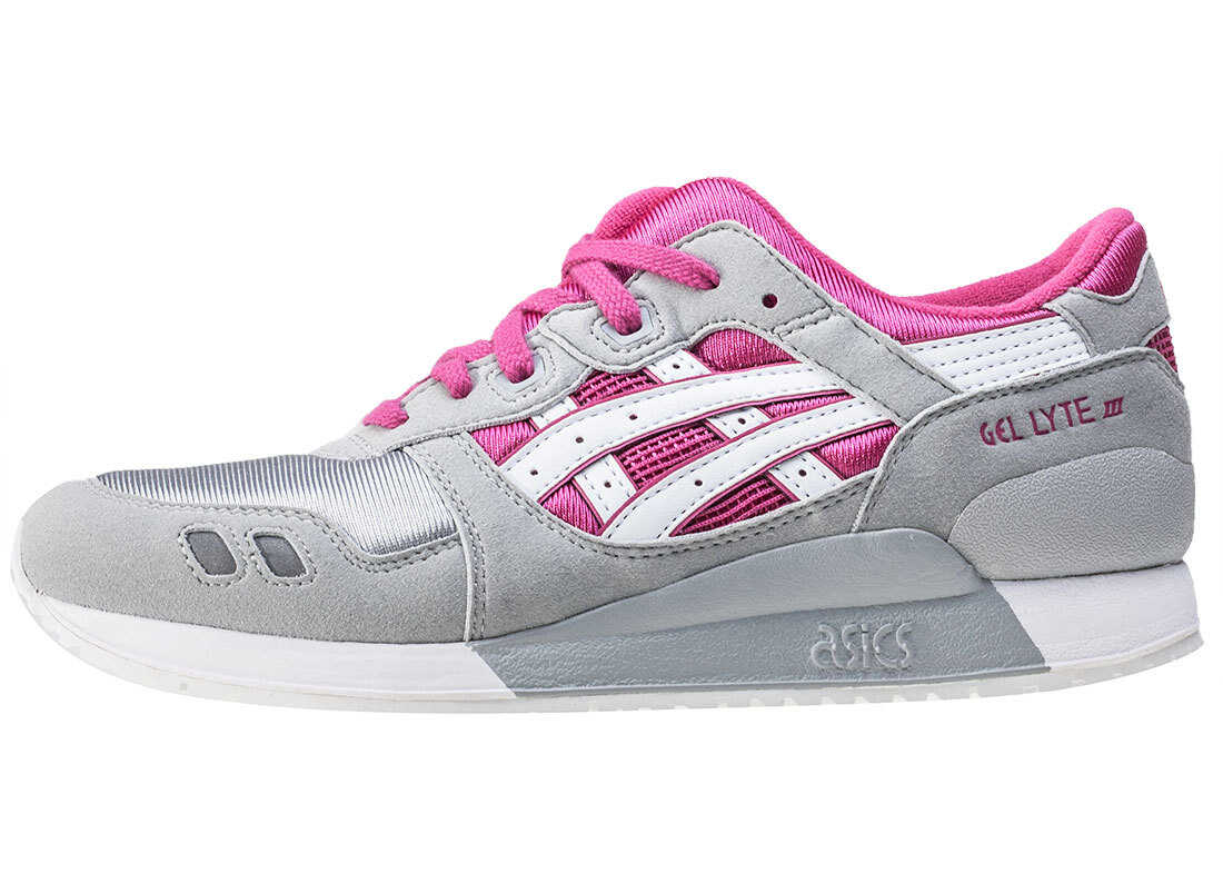 Onitsuka Tiger by Asics Gel-Lyte Iii Gs Kids Trainers In Grey Pink Grey