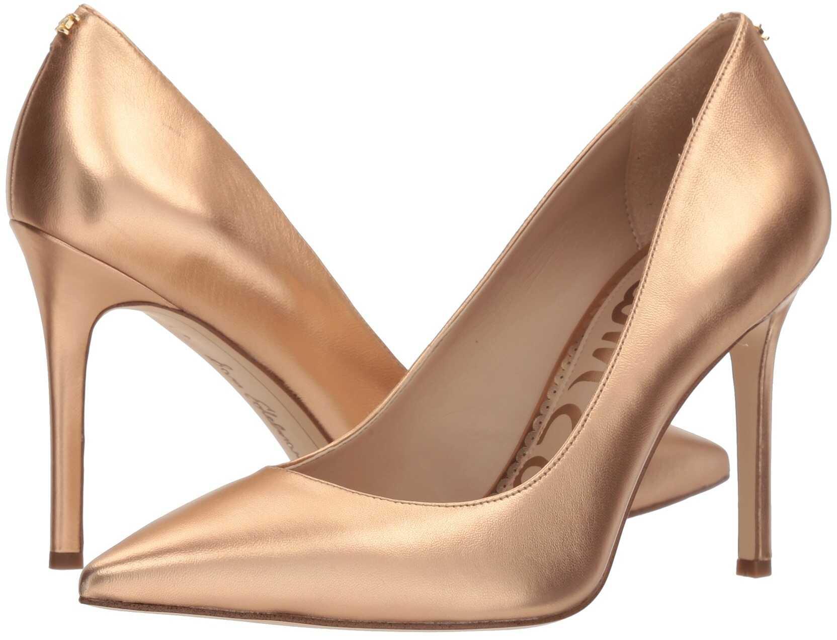 Sam Edelman Hazel Golden Copper Soft Metallic Sheep Leather