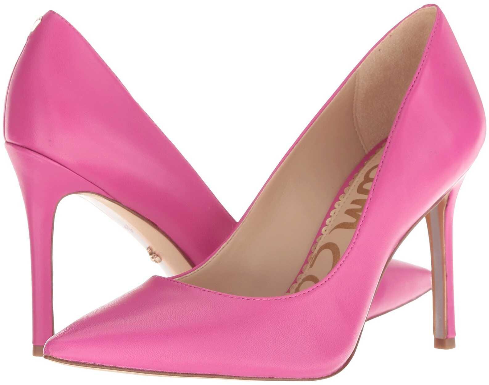Sam Edelman Hazel Retro Pink Leather Dress Nappa Leather