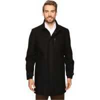 Geci de Puf Wool Zip Front City Coat Barbati