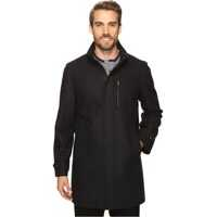 Geci de Puf Wool Zip Front City Coat Barbati