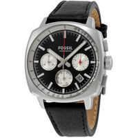 Ceasuri Fashion Haywood Black and Silver Dial Chronograph Leather Mens Watch CH2984 Barbati