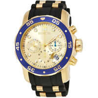 Ceasuri Fashion Pro Diver Chronograph Gold Dial Black Rubber Mens Watch 178841 Barbati