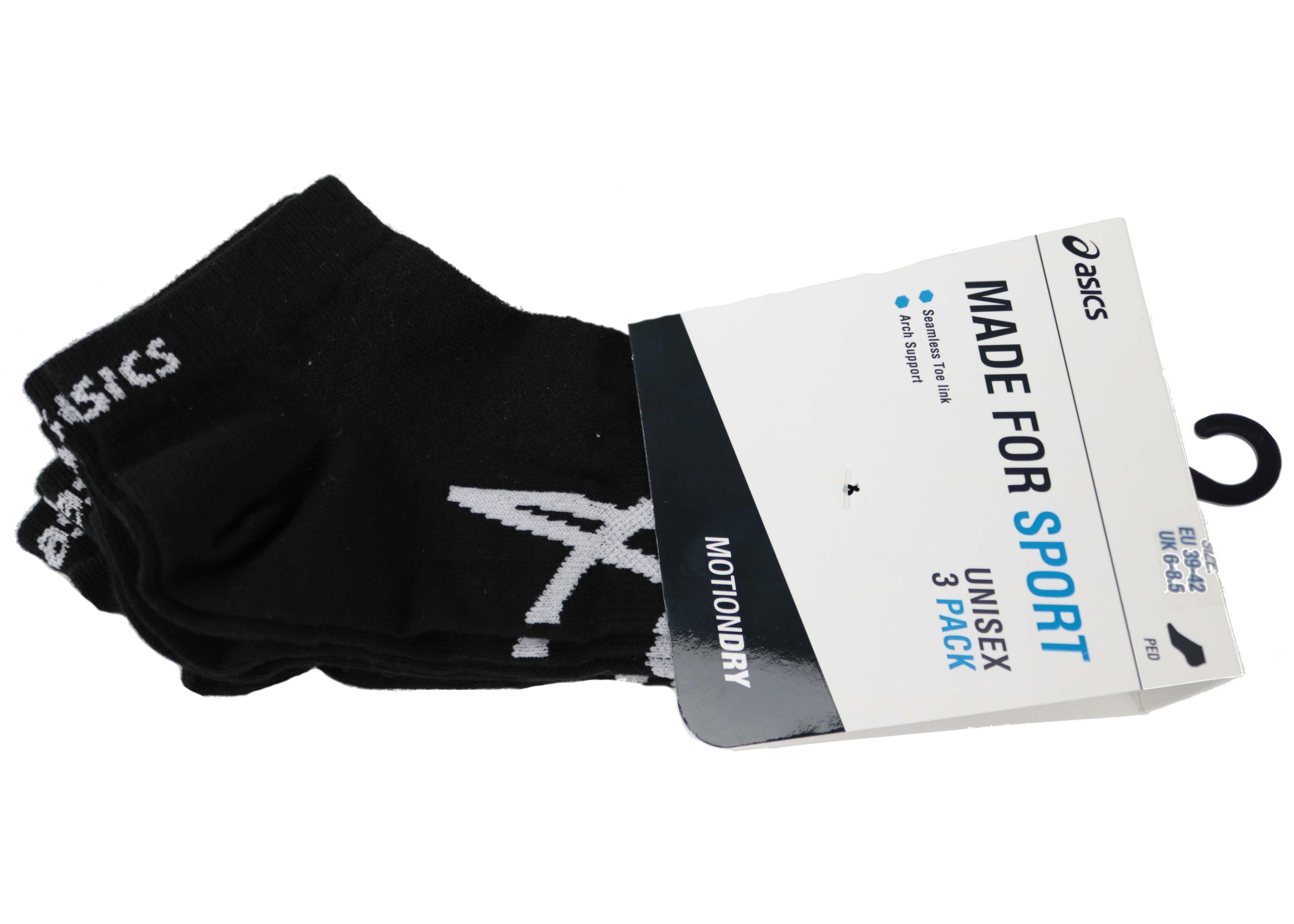 ASICS 3PPK Ped Sock Black