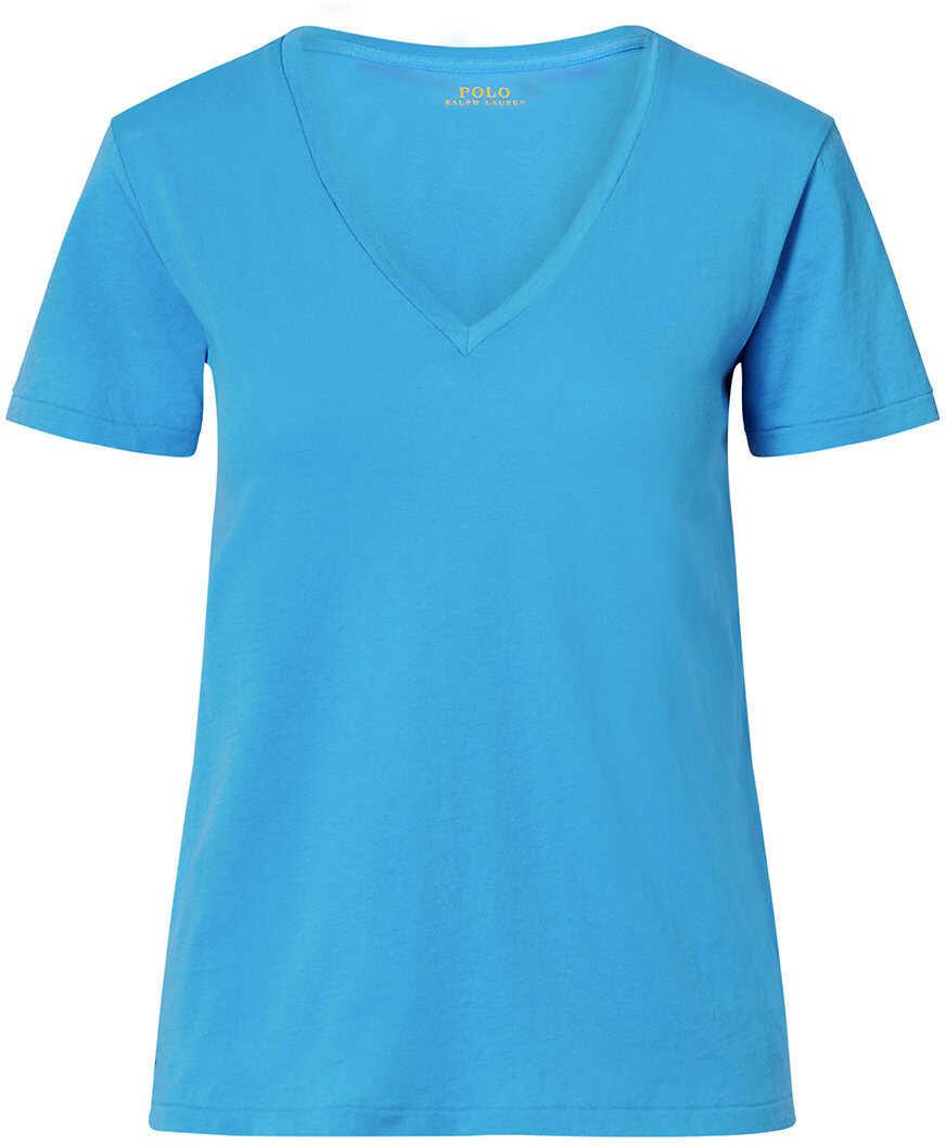 Tricou Femei Ralph Lauren Cotton Jersey V-neck Tee