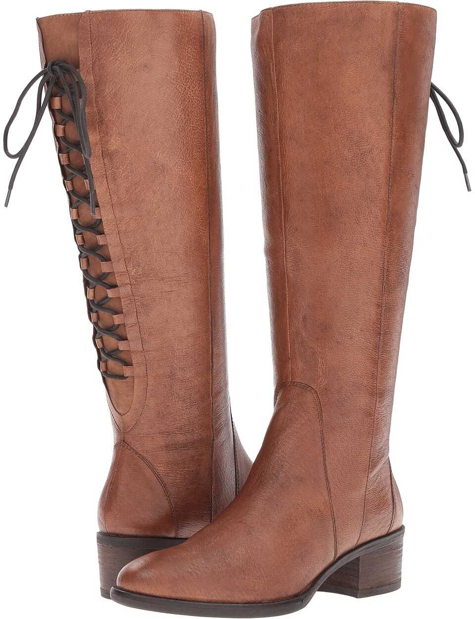 Steve Madden Laceup Wide Cognac Leather