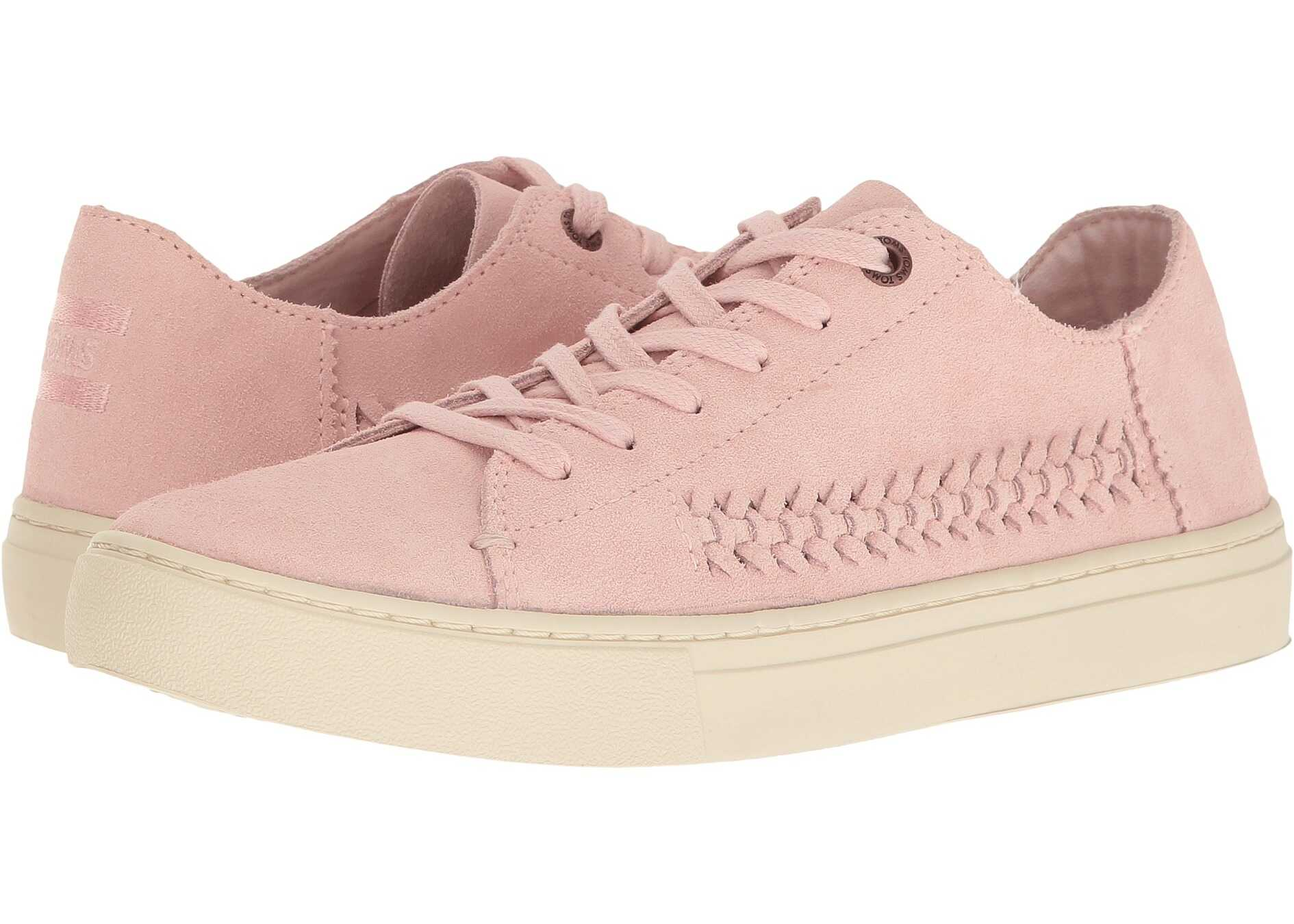 TOMS Lenox Sneaker Pale Pink Deconstructed Suede/Woven Panel