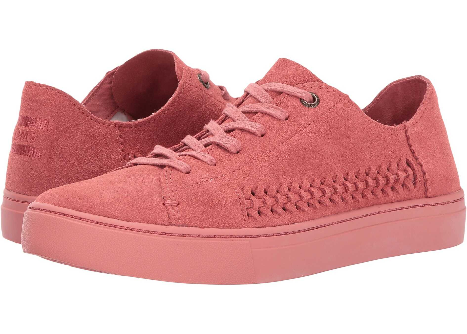 TOMS Lenox Sneaker Faded Rose Monochrome Deconstructed Suede/Woven Panel