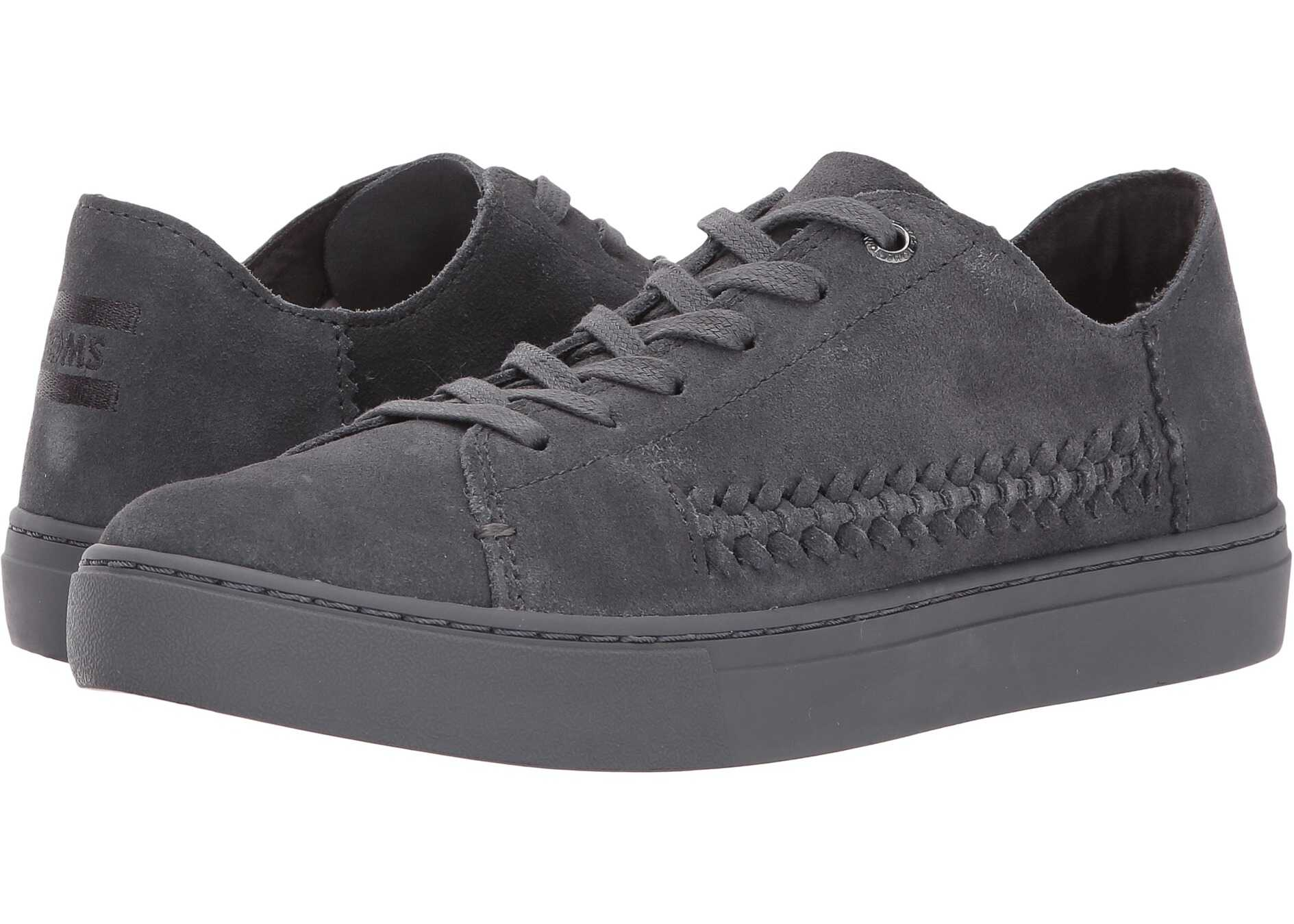 TOMS Lenox Sneaker Forged Iron Grey Monochrome Deconstructed Suede/Woven Panel