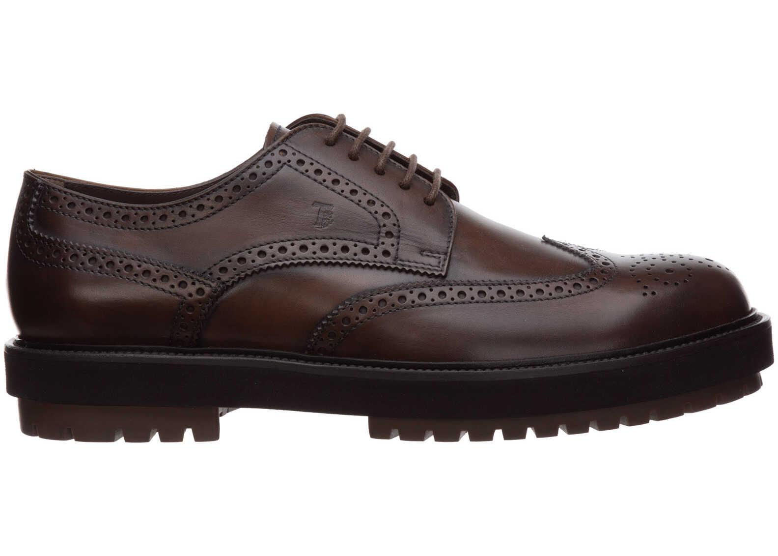 TOD'S Shoes Derby XXM0ZW00C10D9CS801 Brown imagine b-mall.ro