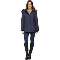 Geci de Iarna Anorak Quilted Bonded w/ Hood and Faux Fur Femei