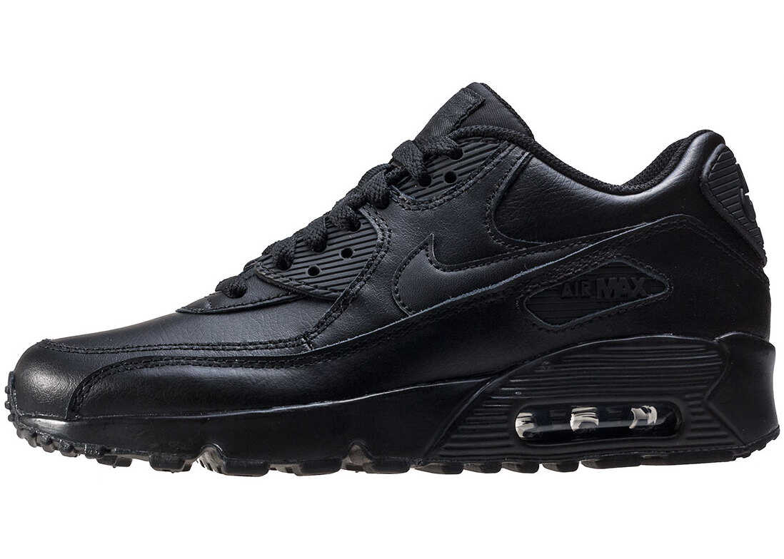 Nike Air Max 90 Gs Kids Trainers In Black Black Black