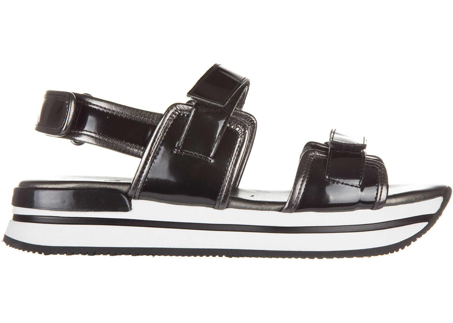 Hogan Sandals H222 Black
