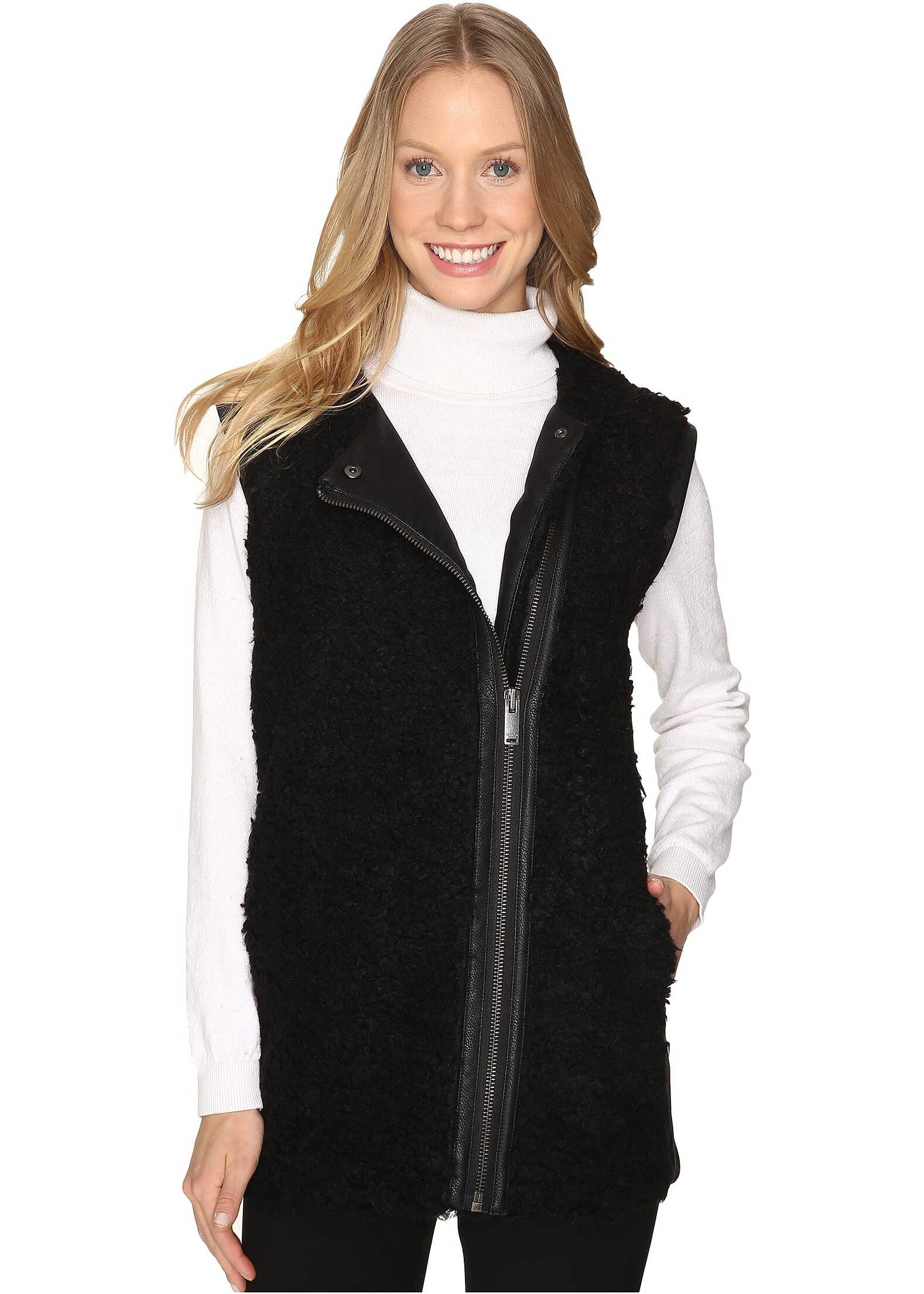 Calvin Klein Jeans Oversized Shearling Outerwear Black