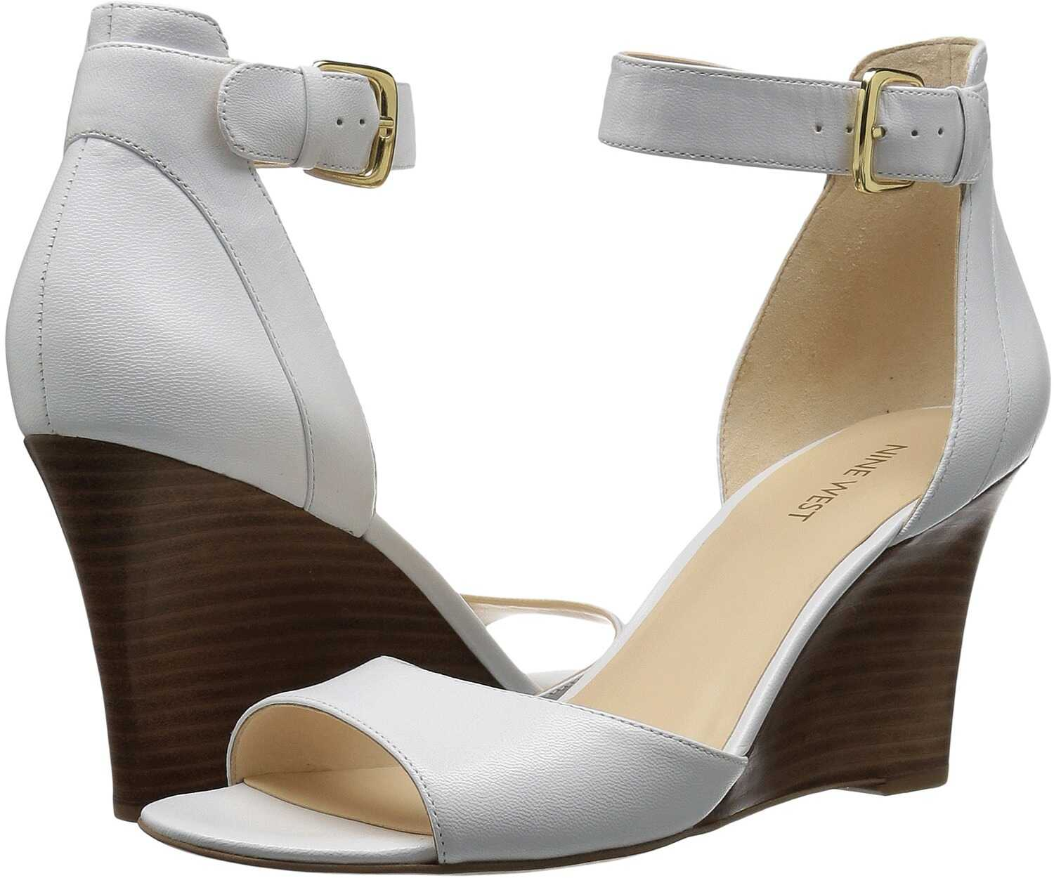 Pantofi Cu Toc Nine West Farlee White Leather