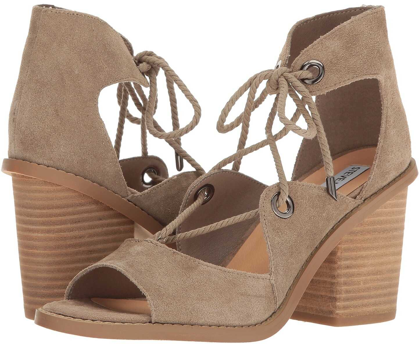 Sandale Femei Steve Madden Carahh Taupe Suede