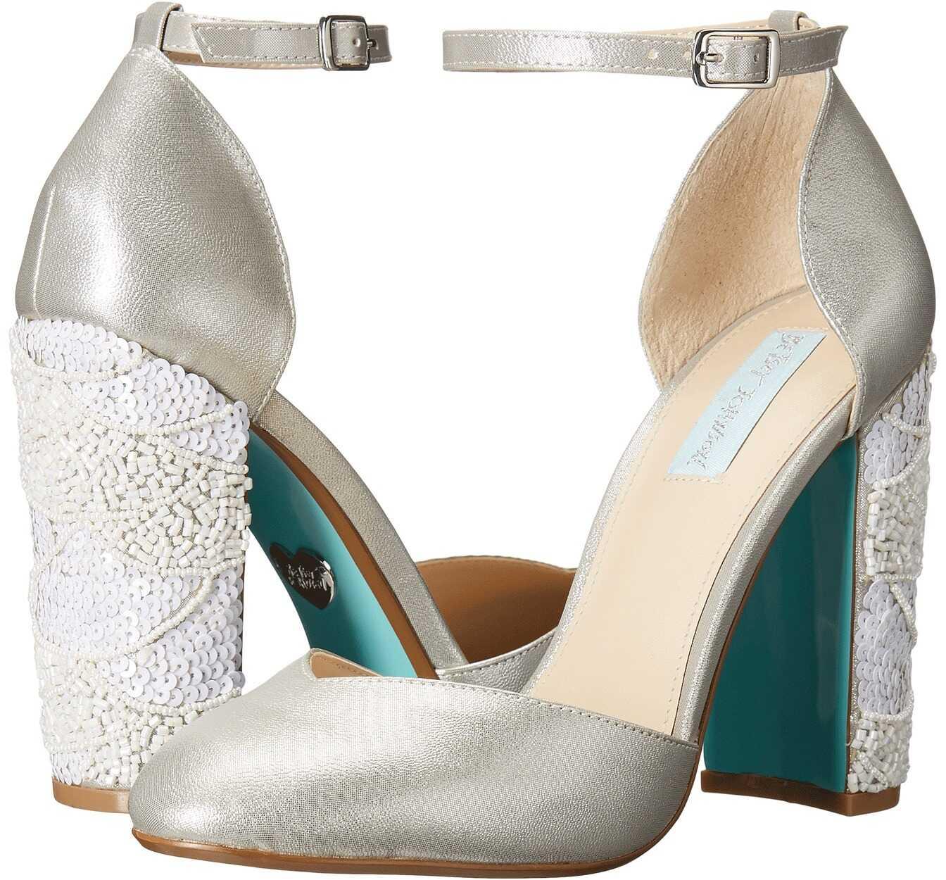 Pantofi Cu Toc Blue By Betsey Johnson Sybil Silver