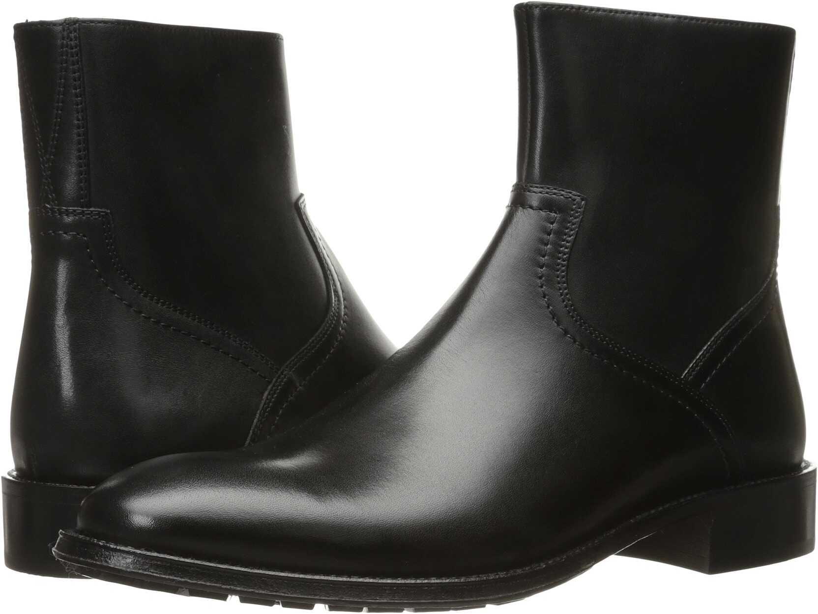 Florsheim Capital Plain Toe Zip Boot Black Smooth