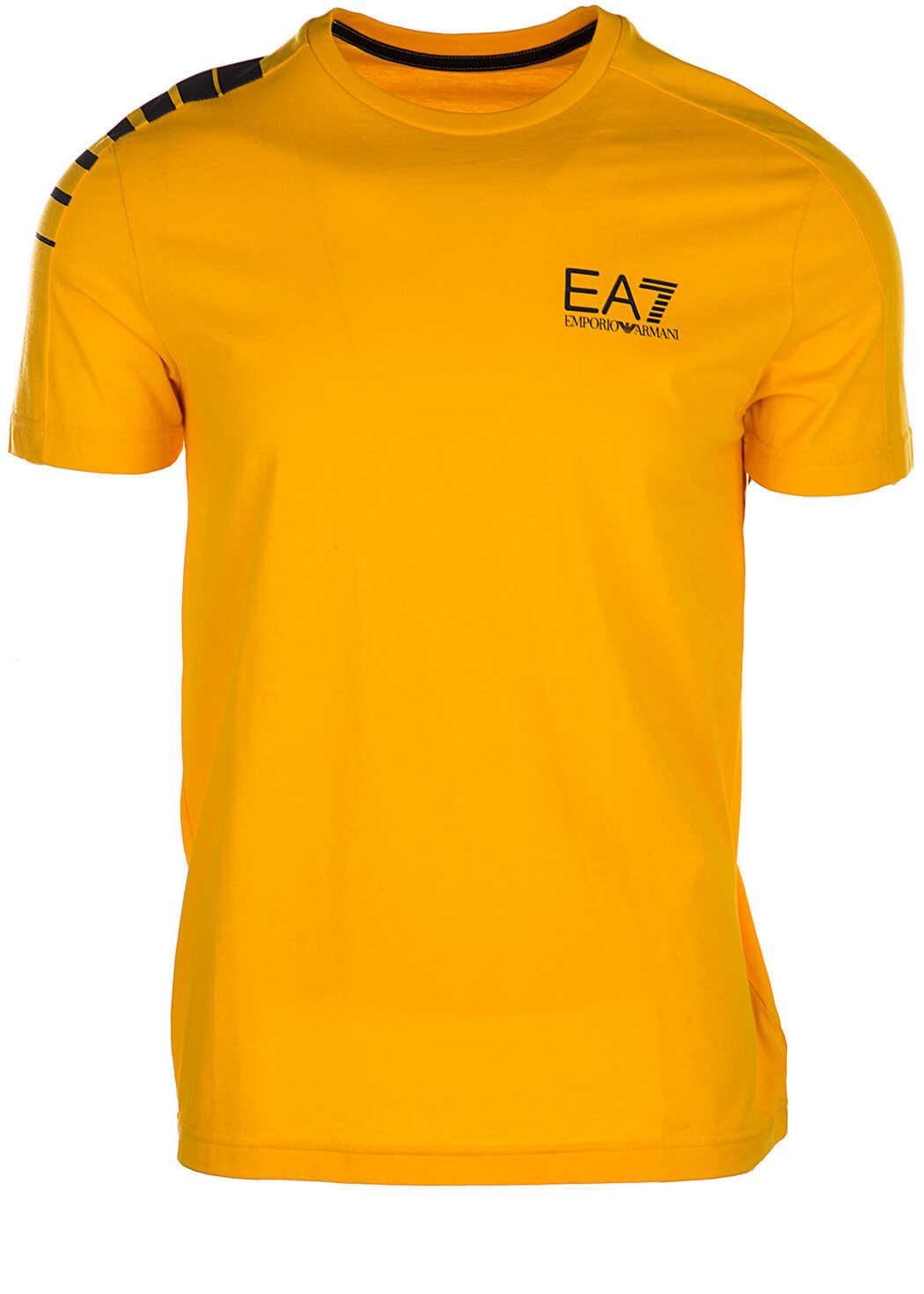 EA7 Neckline Jumper Orange