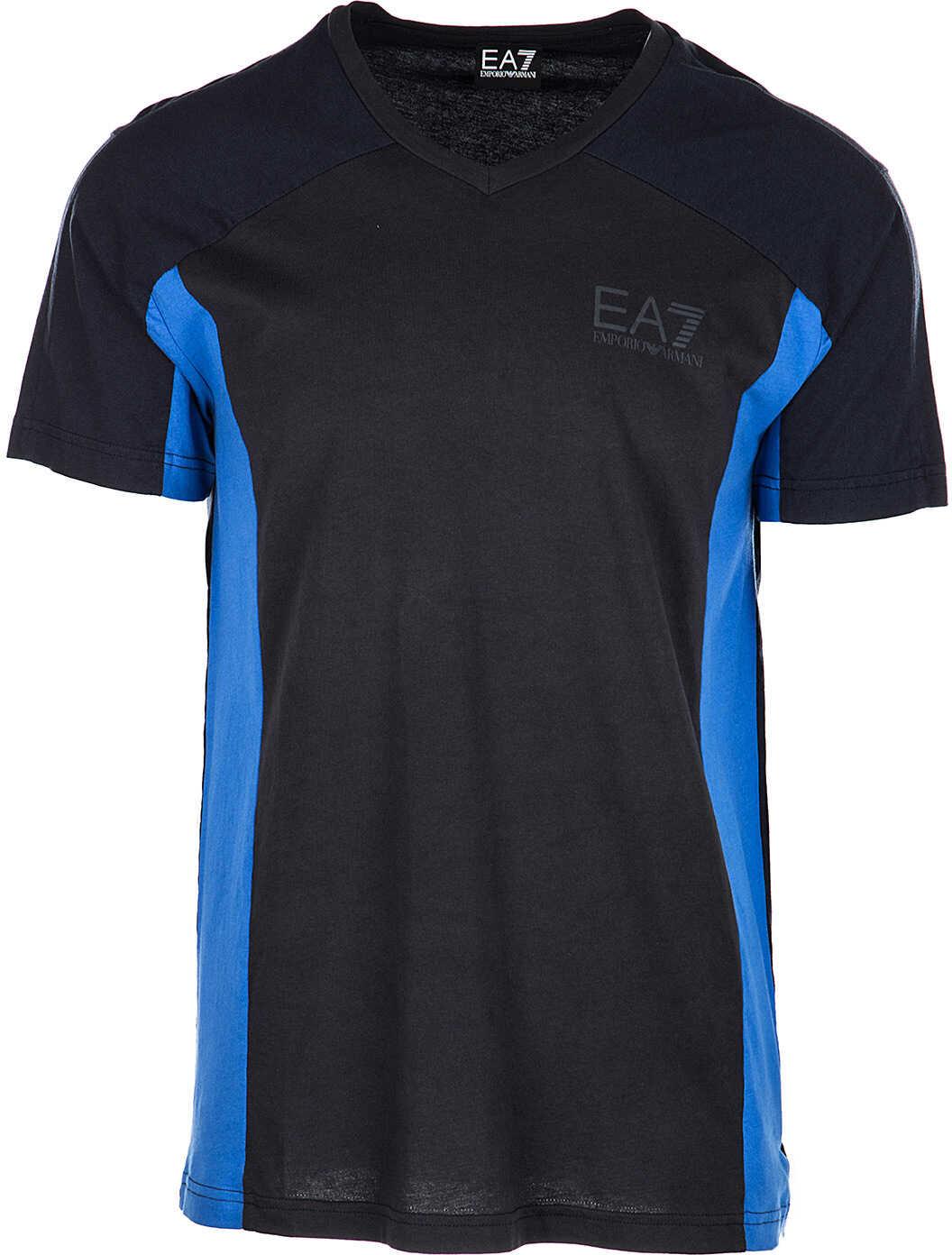 EA7 Neck Neckline Blue