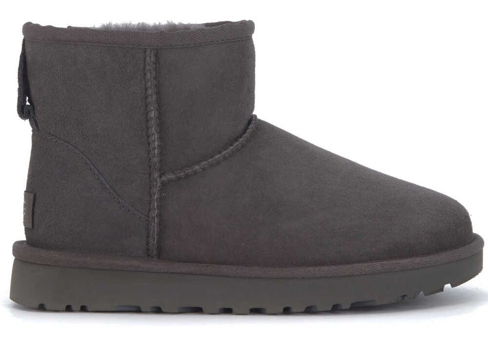UGG Classic Ii Mini Ankle Boots In Grey Suede Black