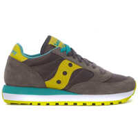 Tenisi & Adidasi Saucony Jazz Sneakers In Grey Anthracite And Yellow Suede And Nylon