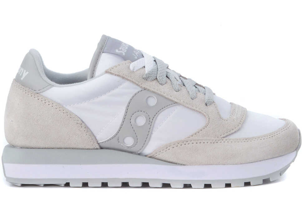 Saucony Jazz Sneaker In Suede And White Nylon White