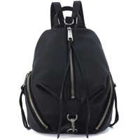 Rucsacuri Model Medium Julian Black Tumbled Leather Backpack Femei