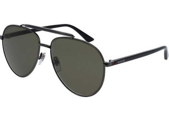 Gucci GG0014S 003-RUTHENIUM-BLACK-GREEN