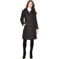 "Geci de Puf 40"" Down Coat with Bib Femei"