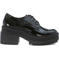 Pantofi Oxford Euphoric Black Vegan Patent Leather Femei