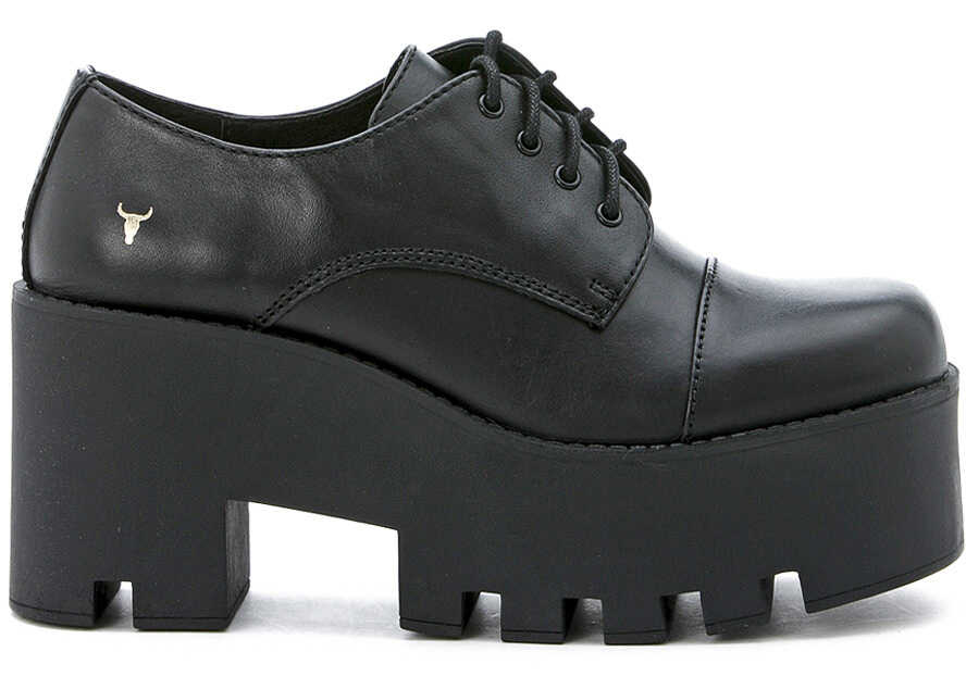 Windsor Smith Black Leather Lace Up Shoes Black