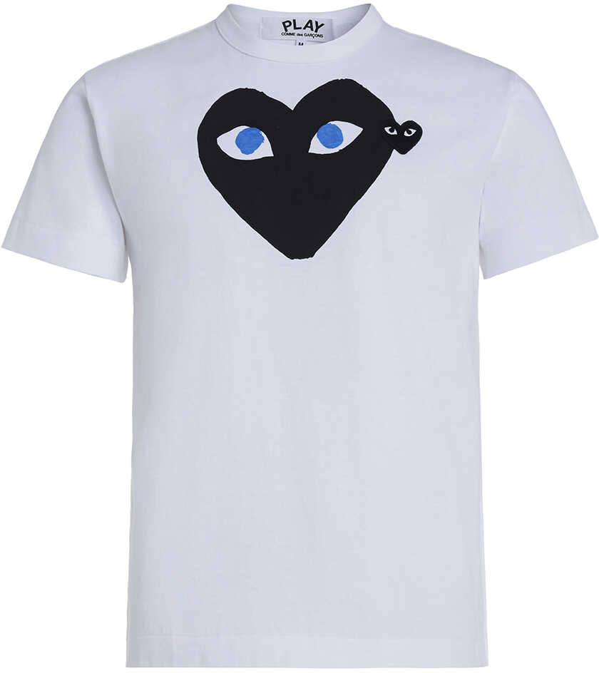 Comme des Garçons Play White T-Shirt Play By Comme De Garcon With Black Heart White