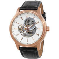 Ceasuri Fashion Vintage Automatic Silver Skeleton  Dial Mens Watch 22579 Barbati