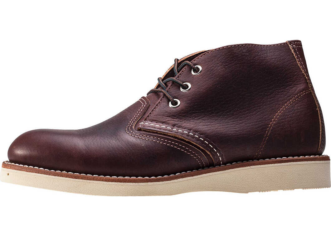 Red Wing Work Chukka Boots In Dark Brown (Style No. 3141) Brown