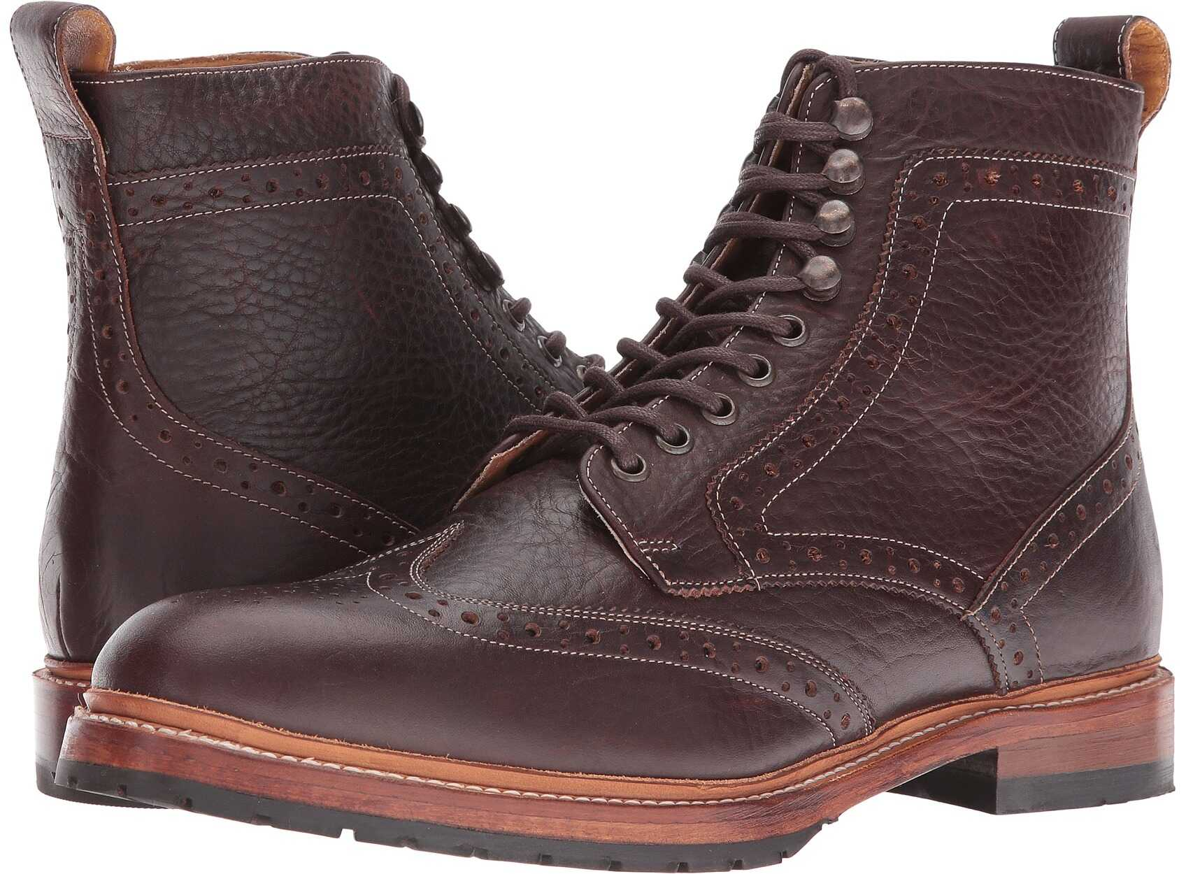 Stacy Adams Madison II Wingtip Lace Boot Brown