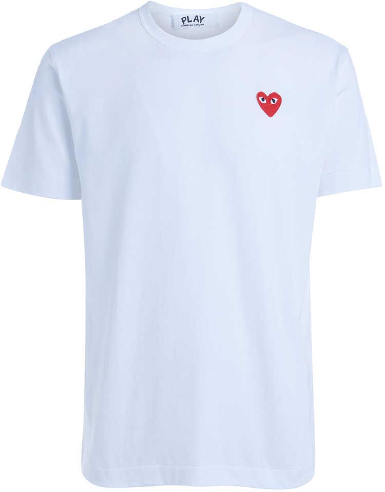 Comme des Garçons Play White Roundneck T-Shirt White