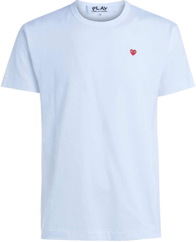 Comme des Garçons Play White T-Shirt With Red Heart White