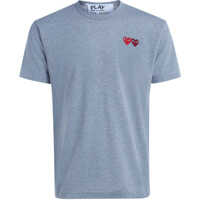 Tricouri Grey Melange T-Shirt With Double Heart Barbati