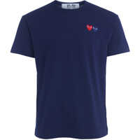 Tricouri Blue T-Shirt With Double Heart Barbati