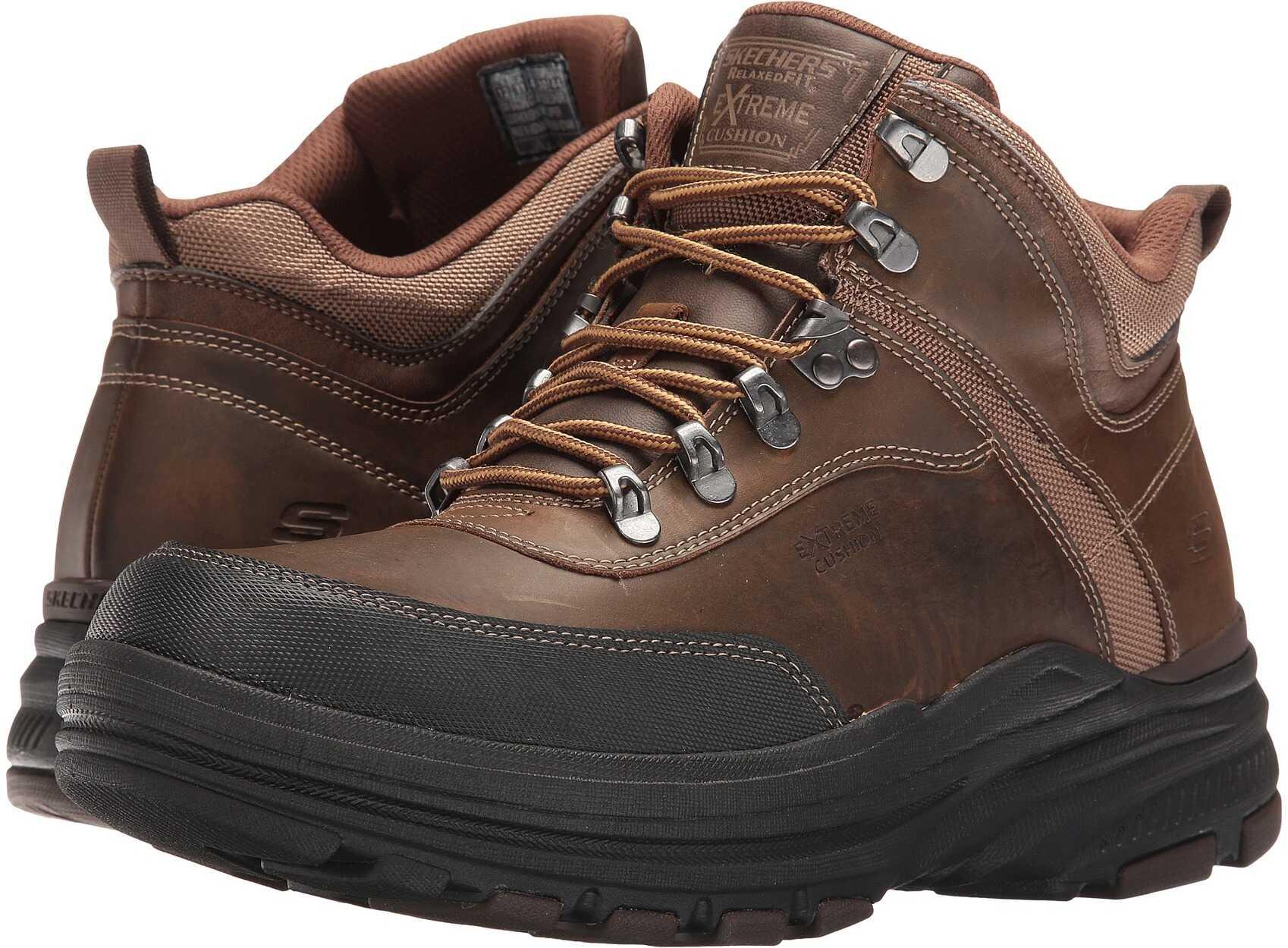 SKECHERS Relaxed Fit®: Holdren - Brenton Dark Brown Leather
