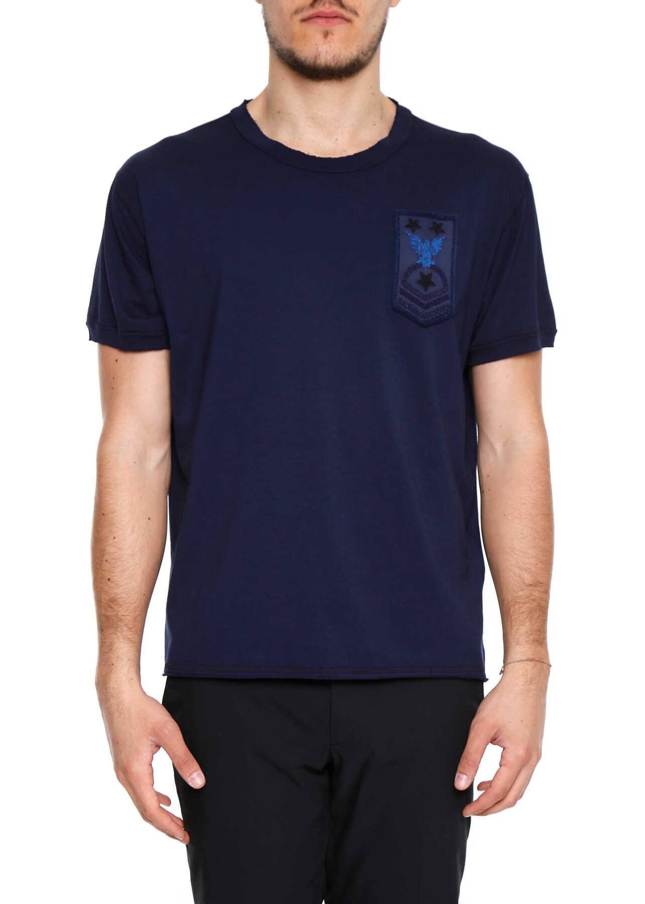 Valentino Garavani Army Patch T-Shirt INDACO