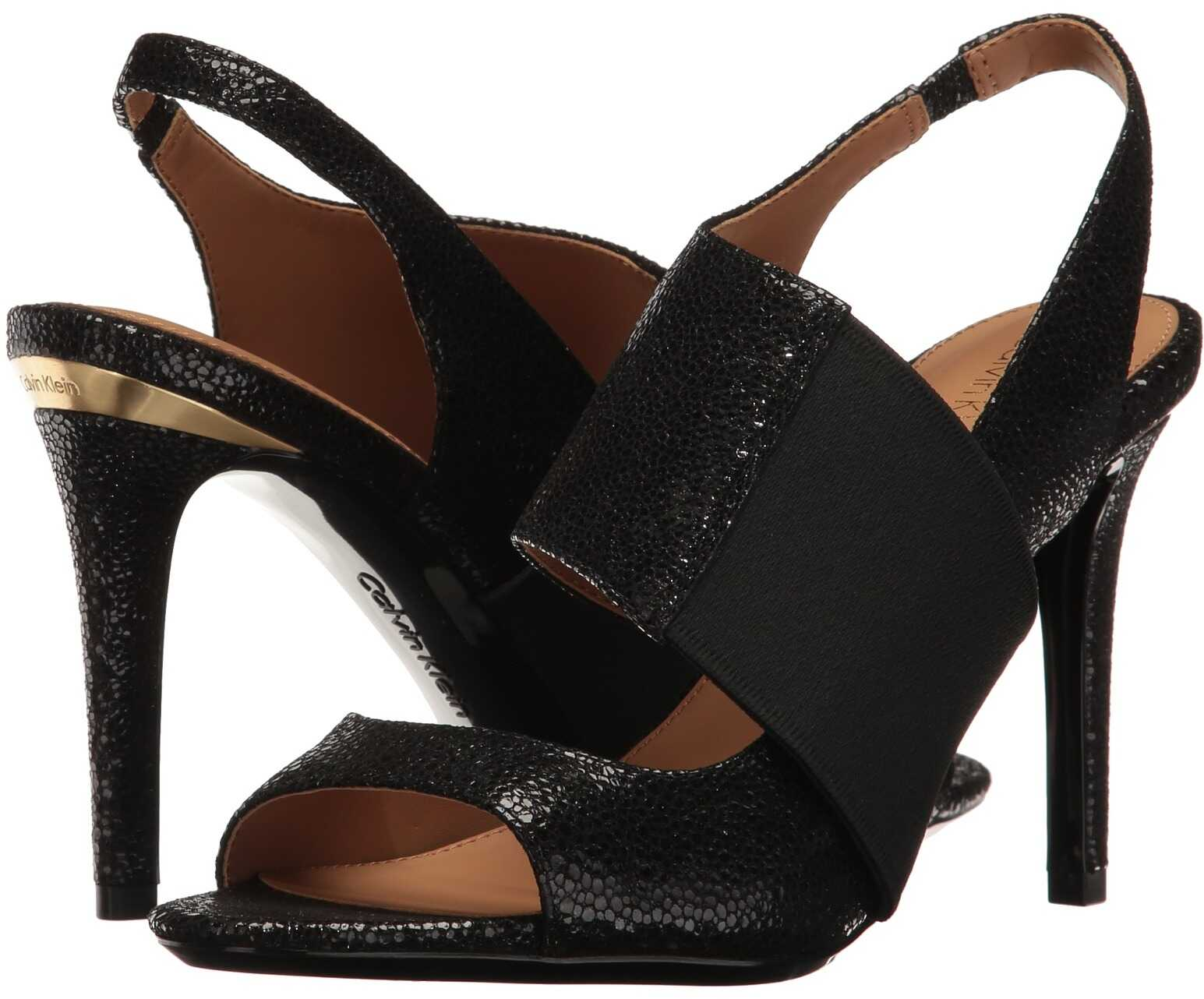 Calvin Klein Navea Black Stingray Print Leather