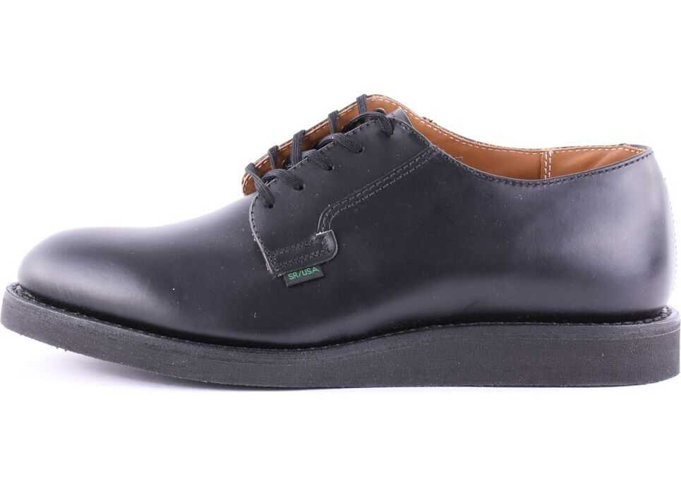 Red Wing Postman Oxford Shoes In Black (Style No. 101) Black