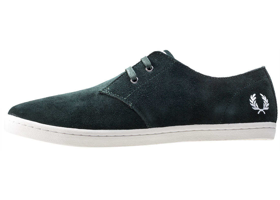 Fred Perry Byron Low Shoes In Dark Green Green