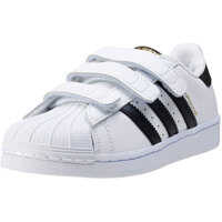 Tenisi & Adidasi Superstar Foundation Kids Trainers In White Black Baieti