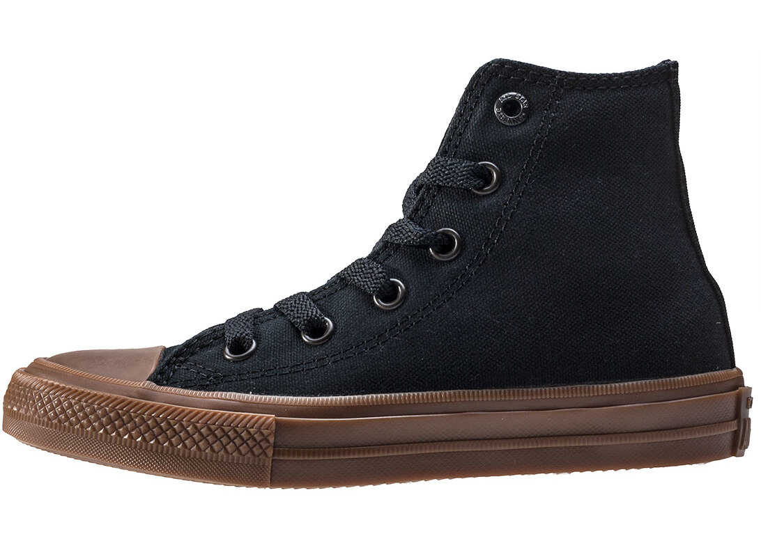 Converse Chuck Taylor All Star Ii Hi Toddler Trainers In Black Gum Black
