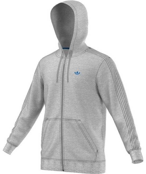 Tricou Barbati Adidas Classic Trefoil Hoodie Grey