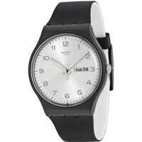 Ceasuri Fashion Originals Silver Dial Black Silicone Unisex Watch SUOB717 Barbati